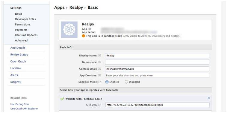 Facebook Key Development
