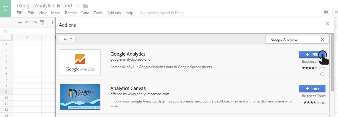 Download Google Analytics Addon