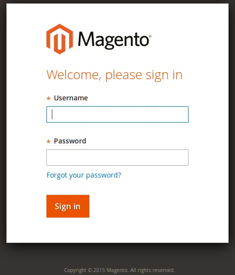 Magento 2 Login Page