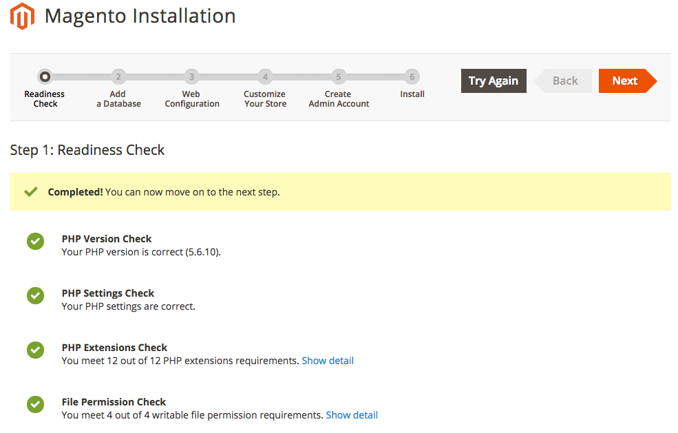 Magento 2 Installation Steps