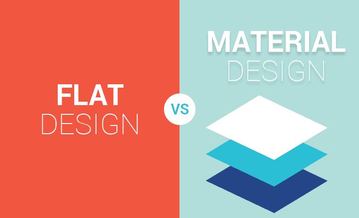 Flat Design Vs Material Design An Overview